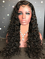 cheap -Remy Human Hair Lace Front Wig Brazilian Hair Curly 130% Density Long Women's Human Hair Lace Wig