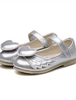 cheap -Girls' Shoes Leatherette Spring & Fall First Walkers / Flower Girl Shoes Flats Magic Tape for Baby Silver / Blue / Party & Evening