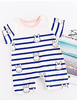 cheap -Baby Unisex Striped Short Sleeve Overall & Jumpsuit