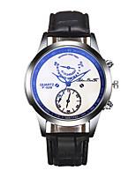 baratos -Homens Quartzo Relógio de Pulso Chinês Cronógrafo / Criativo PU Banda Luxo Prata