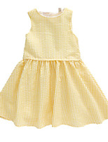 cheap -Kids Girls' Check Sleeveless Dress