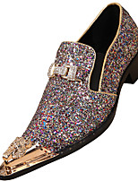 cheap -Men's Shoes Glitter Nappa Leather Spring Fall Formal Shoes Oxfords for Casual Party & Evening Gold