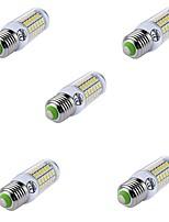 preiswerte -5 Stück 8W 880lm E26 / E27 LED Mais-Birnen T 69 LED-Perlen SMD 5730 Dekorativ Warmes Weiß / Kühles Weiß 220-240V