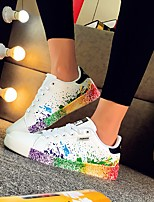 cheap -Unisex Shoes PU(Polyurethane) Spring Comfort Sneakers Black / White / White / Green