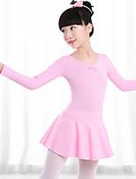 abordables -Danse classique Robes Fille Entraînement / Utilisation Coton Ruché Manches Longues Taille moyenne Collant / Combinaison