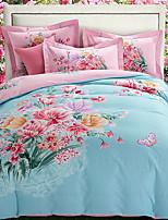 cheap -Duvet Cover Sets Floral / Geometric Polyster Reactive Print 4 Piece