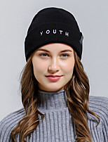 cheap -Women's Polyester Beanie / Slouchy - Solid Colored / Fabric / Winter