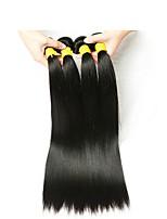 Недорогие -Индийские волосы Прямой Человека ткет Волосы / Накладки из натуральных волос Ткет человеческих волос Лучшее качество / Новое поступление