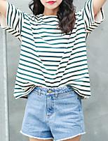 abordables -Tee-shirt Femme, Rayé - Coton Ample / Coton / Rayé / Ample