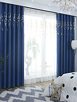 cheap -Two Panel Korean Pastoral Style Embroidered Blackout Curtains For Living Room Bedroom Dining Room Children's Room Curtains