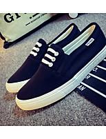 Недорогие -Муж. обувь Полотно Весна Удобная обувь Мокасины и Свитер Черный / Серый / Синий