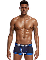 cheap -Men's Boxers Underwear Solid Colored Low Rise