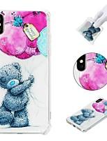 baratos -Capinha Para Apple iPhone X / iPhone 8 Plus / iPhone XS Antichoque / Estampada Capa traseira Animal Macia TPU para iPhone XS / iPhone XR / iPhone XS Max
