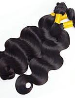 cheap -Indian Hair Wavy Unprocessed Human Hair Natural Color Hair Weaves / Human Hair Extensions 4 Bundles Human Hair Weaves Best Quality / Hot Sale / For Black Women Natural Black Human Hair Extensions