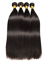 cheap -Brazilian Hair Straight Natural Color Hair Weaves / Human Hair Extensions 4 Bundles Human Hair Weaves Odor Free / Best Quality / New Arrival Natural Black Human Hair Extensions Women's