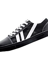 cheap -Men's Shoes Tulle / PU Summer Comfort Sneakers White / Black / Red