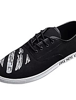 cheap -Men's Shoes Canvas / Fabric Summer Comfort Sneakers White / Black / Red