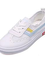 Недорогие -Жен. Обувь Полиуретан Лето Удобная обувь Кеды На плоской подошве Круглый носок Синий / Розовый