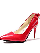 cheap -Women's Shoes PU Spring & Summer Comfort Heels Stiletto Heel Gray / Red / Pink