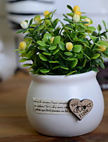 baratos -Flores artificiais 1 Ramo Estiloso Plantas Flor de Mesa