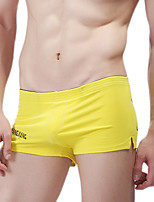 cheap -Men's Boxers Underwear Solid Colored / Letter Low Rise