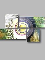 abordables -Peinture à l'huile Hang-peint Peint à la main - Abstrait Paysage Contemporain Toile