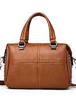 cheap -Women's Bags PU(Polyurethane) Tote Solid Black / Red / Brown