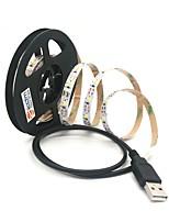 abordables -ZDM® 1m Guirlandes Lumineuses 300 LED SMD 2835 Blanc Chaud / Blanc Froid Découpable / USB / Connectible Alimenté par Port USB 1pc / Auto-Adhésives