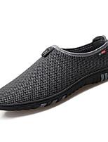 Недорогие -Муж. обувь Тюль Весна Осень Удобная обувь Мокасины и Свитер для Повседневные Черный Серый Синий