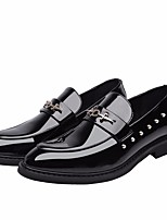 cheap -Men's Shoes Synthetic Microfiber PU Summer Comfort Loafers & Slip-Ons for Office & Career Black