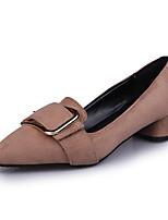 economico -Per donna Scarpe Vellutato / Microfibra Primavera estate Comoda Tacchi Heel di blocco Appuntite Nero / Arancione / Cachi