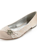 cheap -Women's Shoes Lace Summer Comfort / Ballerina Wedding Shoes Flat Heel Round Toe Rhinestone / Bowknot / Sparkling Glitter Silver /