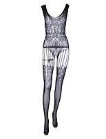 baratos -Mulheres Corpete Roupa de Noite - Com Transparência, Sólido