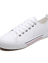 cheap -Men's Shoes Canvas Summer Comfort Sneakers White / Black / Red