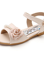 cheap -Girls' Shoes Leatherette Summer Comfort Sandals Satin Flower for Kids Beige / Blue / Pink