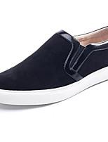 preiswerte -Herrn Schuhe Wildleder Winter Komfort Loafers & Slip-Ons Schwarz / Blau