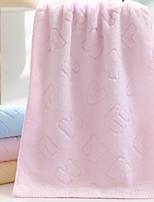 abordables -Qualité supérieure Serviette, Couleur Pleine Polyester / Coton Salle de  Bain