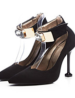 cheap -Women's Shoes Nubuck leather Fall / Spring & Summer Comfort / Novelty Heels Stiletto Heel Pointed Toe Buckle Black / Brown