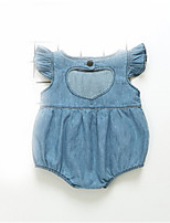 cheap -Baby Unisex Solid Colored Sleeveless Romper