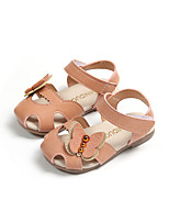 cheap -Girls' Shoes Faux Leather Summer Comfort Sandals Walking Shoes Buckle for Toddler Beige / Green / Pink