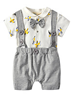 cheap -Baby Unisex Solid Colored / Print / Color Block Short sleeves Overall & Jumpsuit