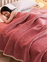 baratos -Velocino de Coral, Gravado Listrado Poliéster cobertores