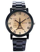 preiswerte -Damen Quartz Armbanduhr Chinesisch Chronograph / Kreativ / Großes Ziffernblatt Legierung Band Eiffelturm Schwarz