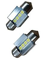 Недорогие -2pcs 31mm Автомобиль Лампы 4W 400lm 4 Светодиодная лампа Внутреннее освещение For Audi / Honda / Hyundai ML400 / GLE320 / GLA220 2018 /