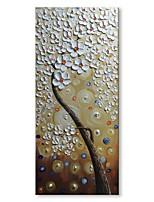 Недорогие -Hang-роспись маслом Ручная роспись - Абстракция Цветочные мотивы / ботанический Современный Modern холст