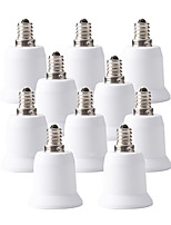 baratos -ZDM® 10pçs E12 a E27 E26 / E27 E12 Conversor Acessório de lâmpada Tomada de luz Plástico e metal