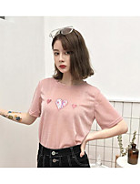 abordables -Tee-shirt Femme, Fleur - Coton