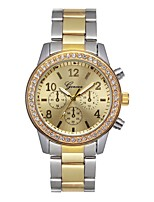 cheap -Men's Wrist Watch Chinese Chronograph / Large Dial / Punk Stainless Steel Band Luxury / Sparkle Gold