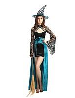 abordables -Bruja Accesorios Unisex Halloween / Carnaval / Dia de los Muertos Festival / Celebración Disfraces de Halloween Azul Un Color / Halloween