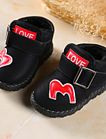 cheap -Girls' Shoes Leatherette Winter Bootie Boots Buckle for Kids Outdoor Black / Red
